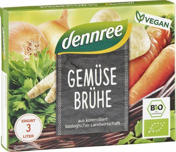 dennree Gemüsebrühe mit Bio-Hefe (Würfel) 15x66g