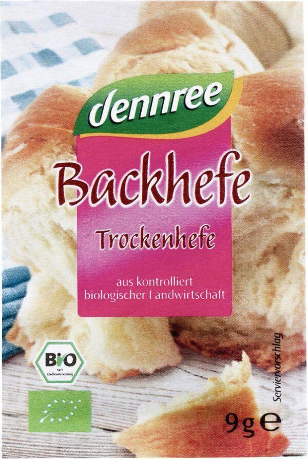 dennree Backhefe Trockenhefe 60x9g