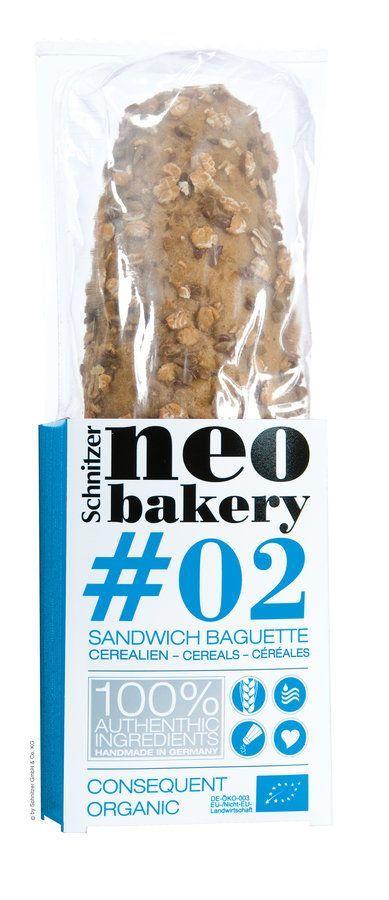 Schnitzer ORGANIC #02 Bio Sandwich Baguette CEREALIEN neo bakery 4x200g