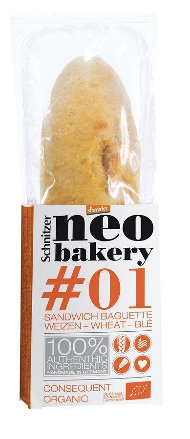 Schnitzer ORGANIC #01 Bio Sandwich Baguette WEIZEN neo bakery 4x200g