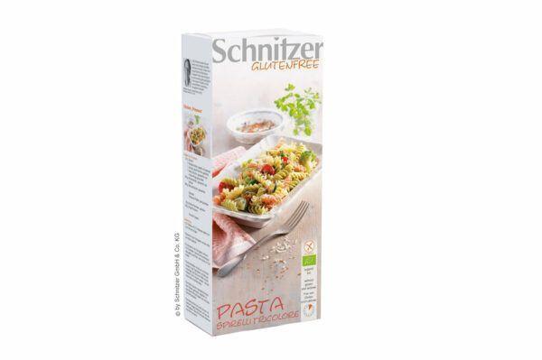 Schnitzer BIO PASTA SPIRELLI TRICOLORE 10x250g