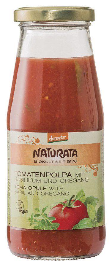 NATURATA  Tomatenpolpa mit Basilikum und Oregano 6x410g