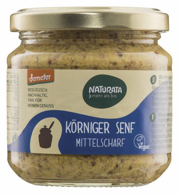 NATURATA Körniger Senf im Glas 6x190ml
