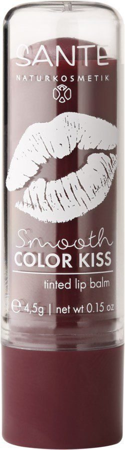 Sante Smooth Color Kiss -Tinted Lipbalm- soft plum 4,5g