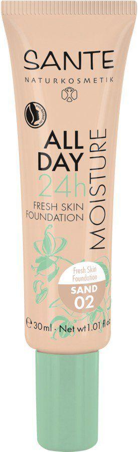 Sante All Day Moisture 24h Fresh Skin Foundation 02 sand 30ml