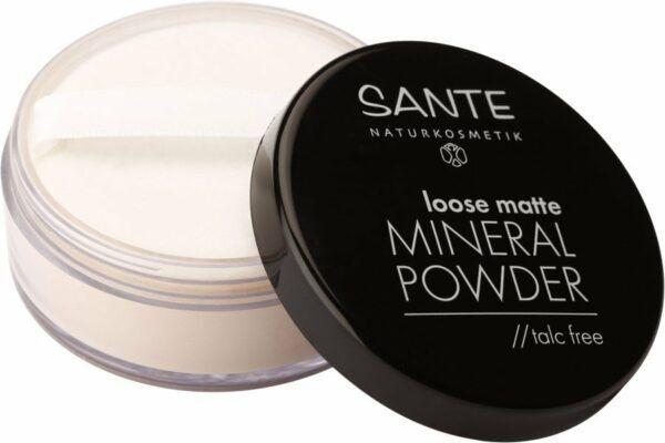 Sante Loose matte Mineral Powder // talc free 01 light beige