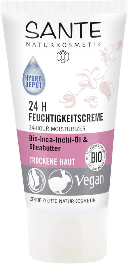 Sante 24 H Feuchtigkeitscreme Bio-Inca-Inchi-Öl & Sheabutter 50ml