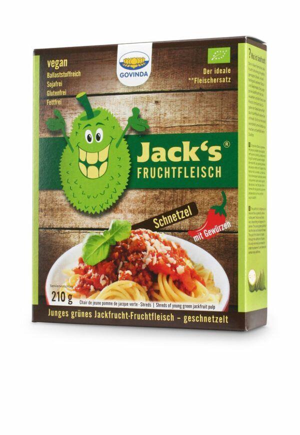 Govinda Jacks Fruchtfleisch- Jackfrucht-Fruchtfleisch Schnetzel 6x210g