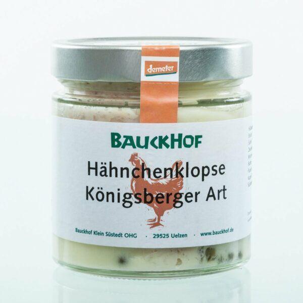 Bauckhof Hähnchenklopse Königsberger Art 6x390g