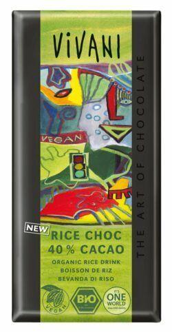 Vivani Rice Choc 40% Cacao 10x100g