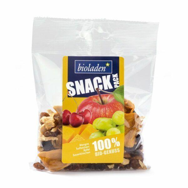 bioladen*  Snack-Pack gelb (Mangos, Sultaninen, Äpfelstückchen, Sauerkirschen) 6x75g