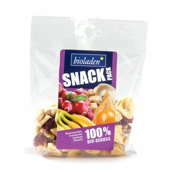 bioladen*  Snack-Pack lila (Bananenchips, Cranberies, Cashews, Physalis) 6x75g