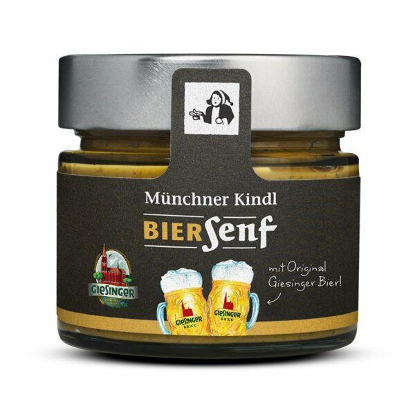 Münchner Kindl Senf Giesinger Bier Senf BIOLAND 6x180ml