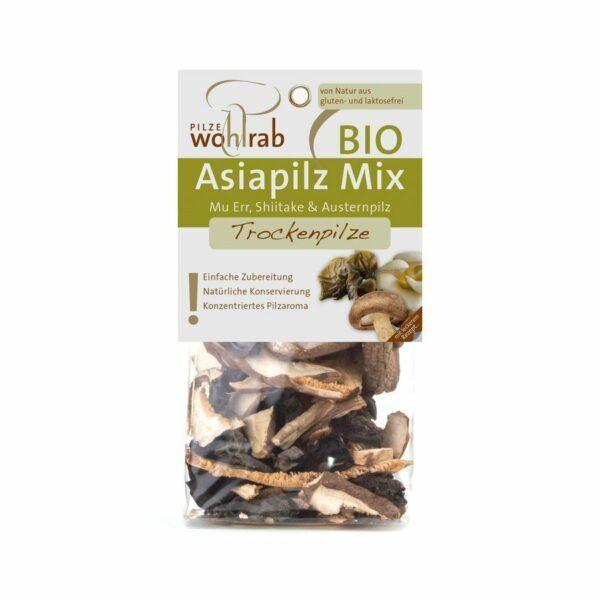 Pilze Wohlrab Asiapilz Mix - getrocknete BIO Pilze im Beutel 6x30g