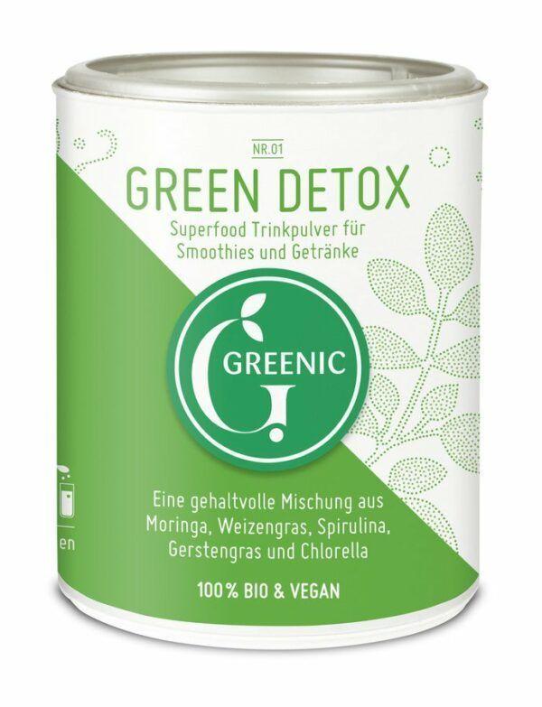 Greenic Green Detox Superfood Trinkpulver Mischung 90g