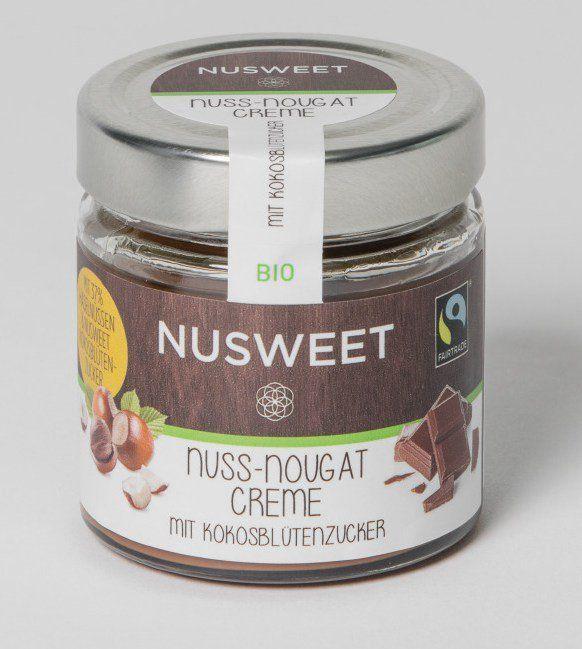NUSWEET Nuss-Nougat-Creme mit Kokosblütenzucker 6x180g