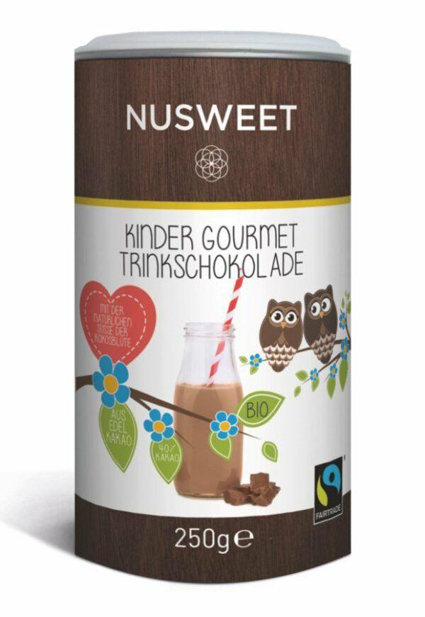 NUSWEET KINDER Trinkschokolade mit Kokosblütenzucker 6x250g