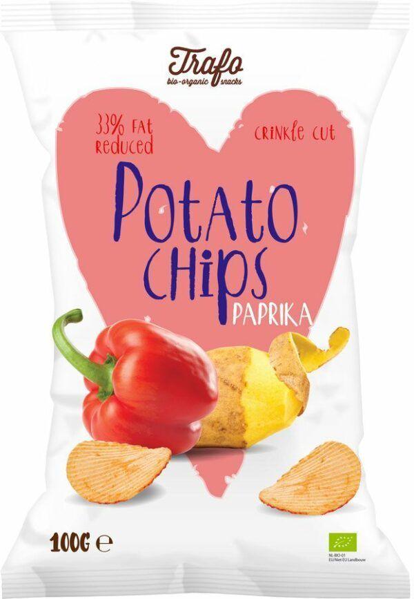 Trafo Chips light paprika 12x100g