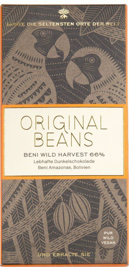 Original Beans Beni Wild Harvest 66% Dunkelschokolade Tafeln 13x70g