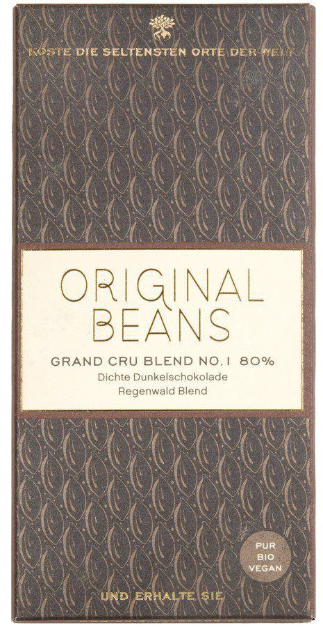 Original Beans Grand Cru Blend No.1 80% Bio Dunkelschokolade Tafeln 13x70g