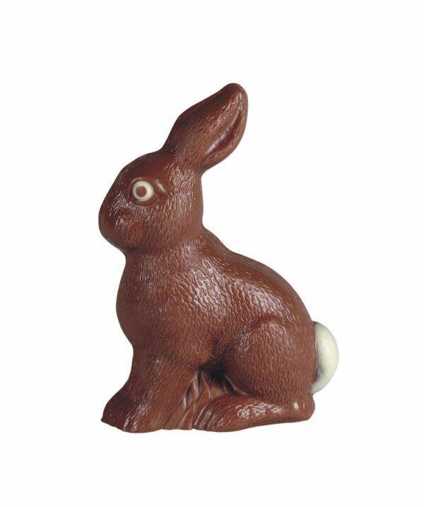 Chocolat Schönenberger Feldhase sitzend, Vollmilch- & weisse Schokolade, geschminkt 9x100g