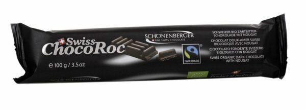 Chocolat Schönenberger Swiss ChocoRoc, Zartbitterschokolade mit Nougat 8x100g