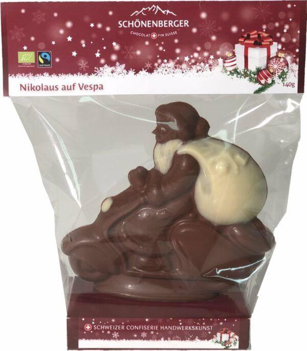Chocolat Schönenberger Weihnachtsmann auf Vespa, Vollmilchschokolade 12x140g