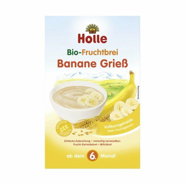 Holle Bio-Fruchtbrei Banane Griess 250g
