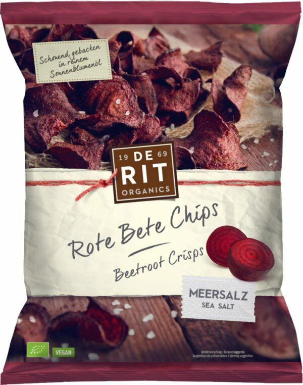 De Rit Rote Bete Chips Meersalz 10x75g