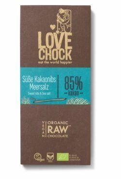 Lovechock Tafel 70 g Süße Kakaonibs/Meersalz 70g