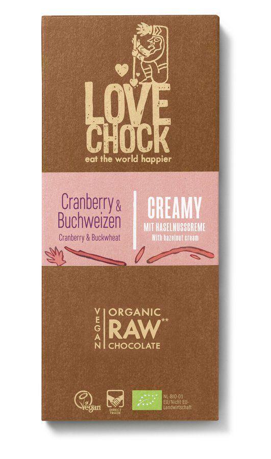 Lovechock Tafel Creamy 70 g Cranberry/Buchweizen 8x70g