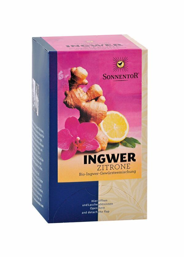 Sonnentor Ingwer-Zitrone Tee bio Einkammerbeutel 6x30g20TB