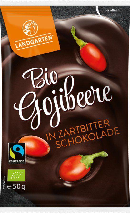Landgarten Bio FT Gojibeere in Zartbitter-Schokolade 50g 10x50g