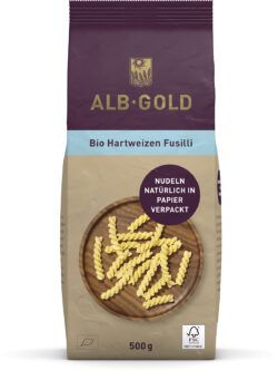 ALB-GOLD AG Bio Hartweizen Fusilli (Papier) 8x500g