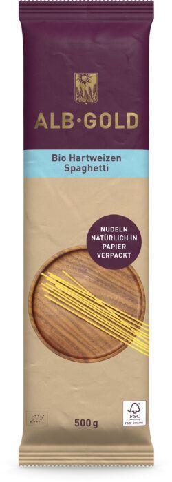 ALB-GOLD Bio Hartweizen Spaghetti 500g ( Papier) 12x500g