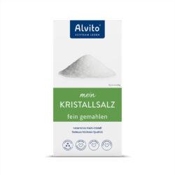 ALVITO - ACHTSAM LEBEN  Alvito KristallSalz 500g fein gemahlen weiße Qualität 500g