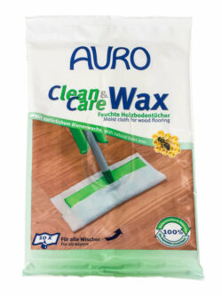AURO Clean & Care Wax Feuchte Holzbodentücher 10St
