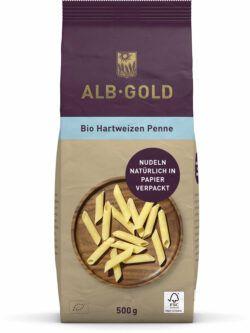Albgold ALB-GOLD Bio Hartweizen Penne (Papier) 8x500g