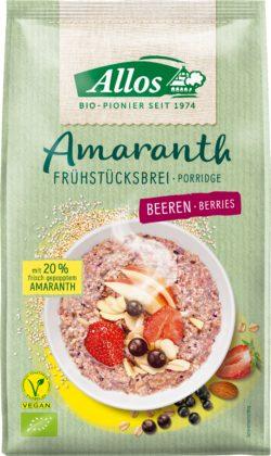 Allos Amaranth Frühstücksbrei Beeren 6x400g
