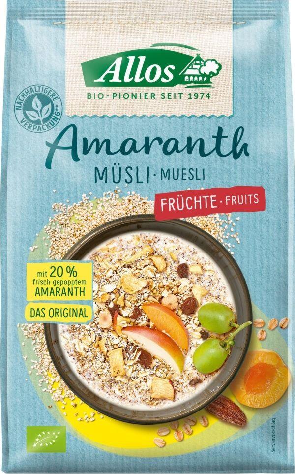 Allos Amaranth Früchte Müsli 6x375g