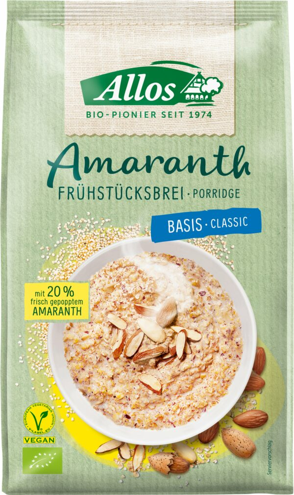 Allos Amaranth Frühstücksbrei Basis 6x400g