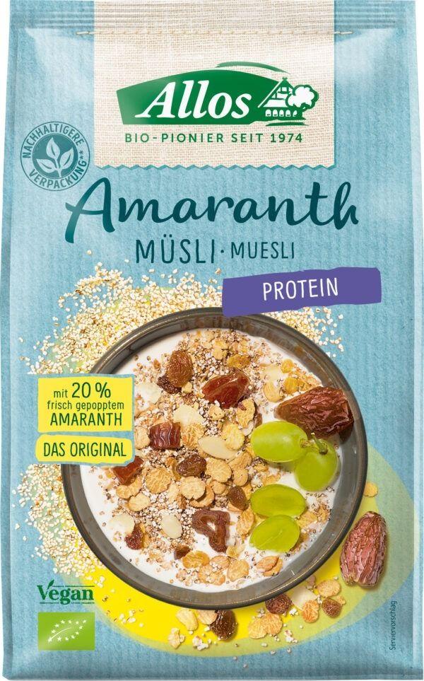 Allos Amaranth Protein Müsli 6x375g