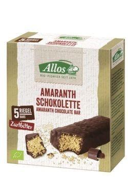 Allos Amaranth Schokolette-Zartbitter 5er Pack 10x140g