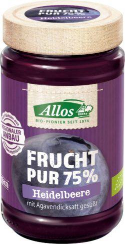 Allos Frucht Pur 75% Heidelbeere 6x250g