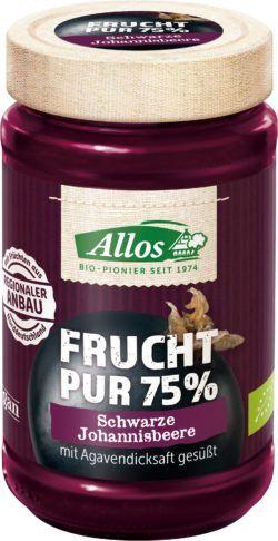 Allos Frucht Pur 75% Schwarze Johannisbeere 6x250g