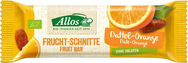 Allos Frucht-Schnitte Dattel Orange 25x30g