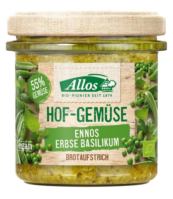 Allos Hof-Gemüse Ennos Erbse Basilikum 6x135g