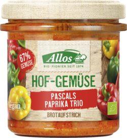 Allos Hof-Gemüse Brot-Aufstrich Pascals Paprika Trio 6x135g