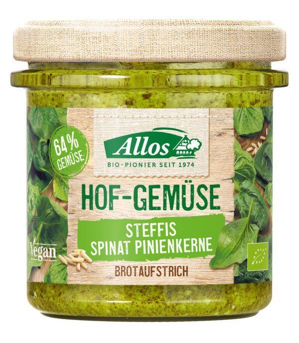 Allos Hof-Gemüse Sabines Spinat Pinienkerne 135g