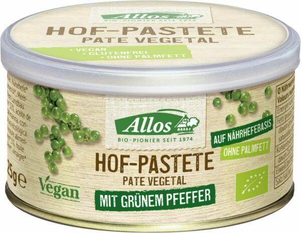 Allos Hof-Pastete Grüner Pfeffer 12x125g